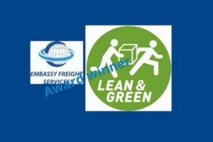 Embassy Freight Services Europe NV Lean and Green award winner