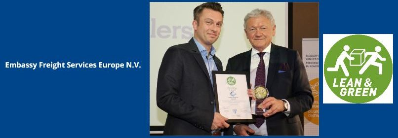 Embassy Freight Services Europe Lean and Green award