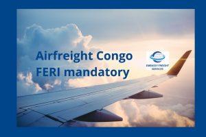Airfreight Congo FERI mandatory header